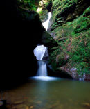 The Waterfall At St Nectan's Glen, Tintagel, North Cornwall, England, UK.