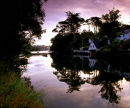 Dawn, Helford River With Reflection, West Cornwall, England, UK.
