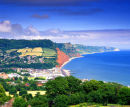 Sidmouth From Peak Hill, Devon, England, UK.
