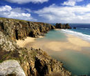 Low Tide, Treen Cliffs, Nr. Porthcurno, Cornwall, England, UK.