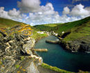 Boscastle Harbour, North Cornwall, England, UK.