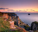 Sunset At Treknow Cliff, Lanterdan, North Cornwall, England, UK.