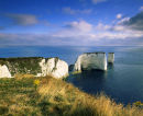 Old Harry Rocks, Ballard Downs, Swanage, Dorset, England, UK.