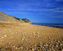 On The Beach, The Golden Cap, Lyme Bay, Jurassic Coast, Dorset, England, UK.