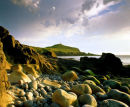 Cape Cornwall & Pebble Beach, West Cornwall, England, UK.