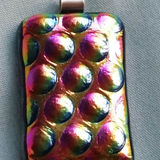 Dichroic Glass Pendant; Bobbles and Beauty