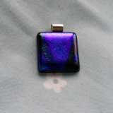 Dichroic Glass Pendant; Lines