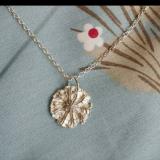 Fine Silver Flower - reversible