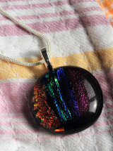 Dichroic Glass Pendant; Funky and Fabulous