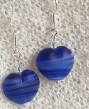 Blue Striated Hearts