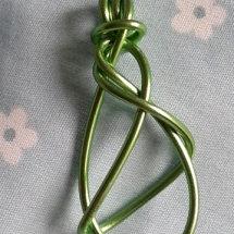 Handwrapped Aluminium Pendant
