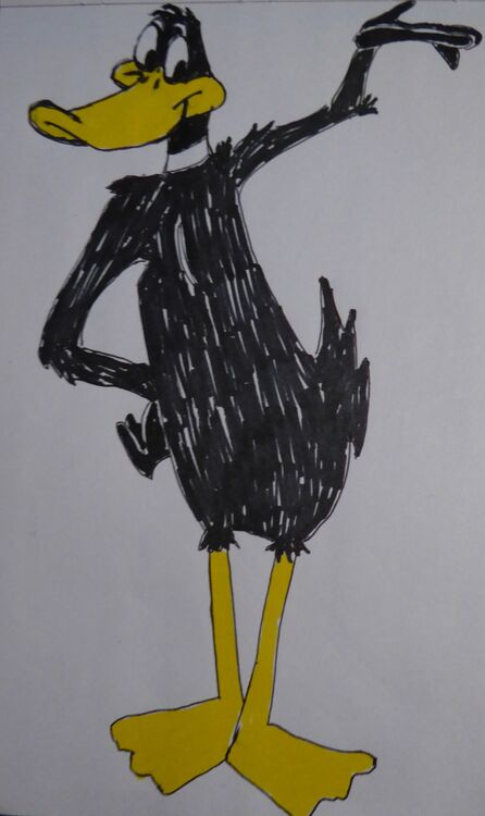 Daffy Duck coloured