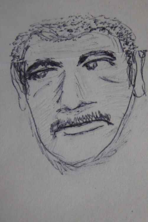 Ray Smith aka Spikings from Dempsey and Makepeace REDRAWN HAIR