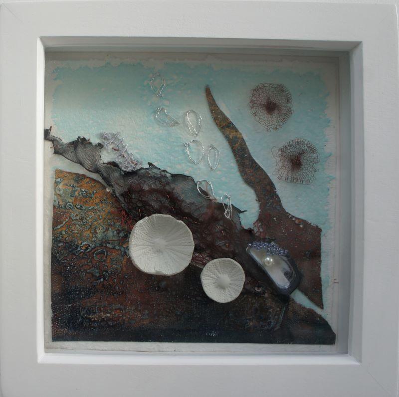 Framed sample - Ocean collage