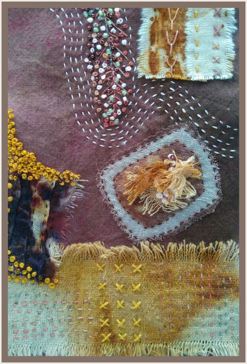 """""""Feather"""" wall hanging detail"""
