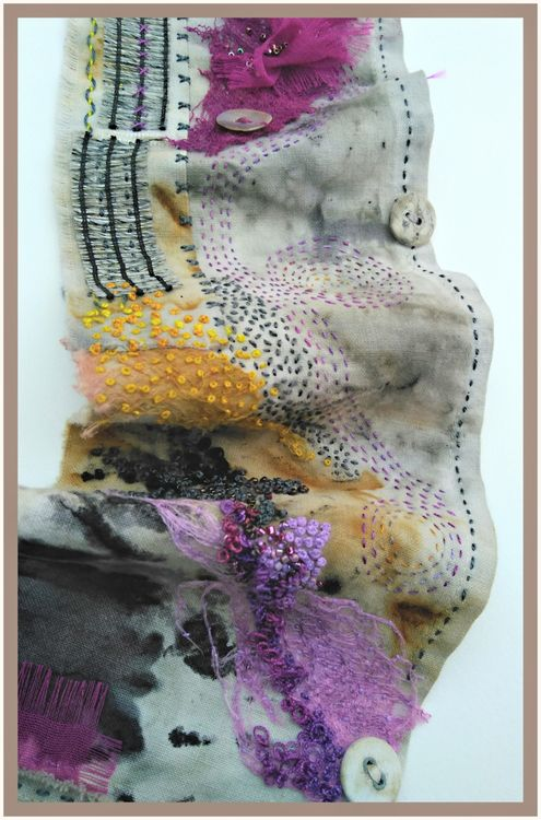 Stitched Wall Hanging 'From the Dyepot'