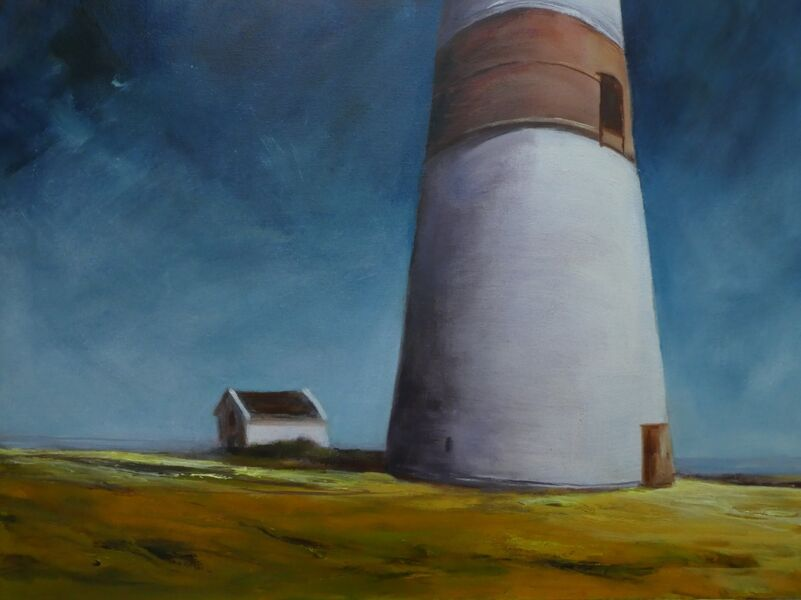 Lighthouse before the fall (62cm x 42cm))