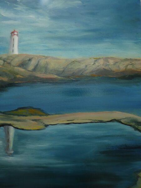 Reflecting on a lighthouse (62cm x 52cm)