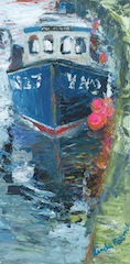 The blue fishing boat