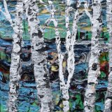 Textured Birchtrees (sold)