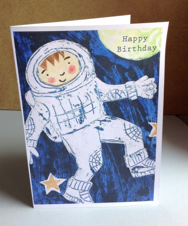 Astronaut Birthday Card photo