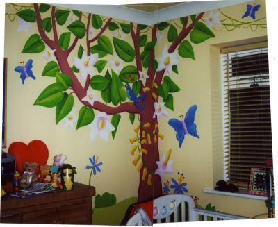 Child's Jungle Mural