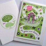 Moving Home - New Home Illustrated Occasions card. Snail's new house!
