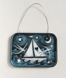 Illustrated Tobacco Tin Lid - Love Sailing