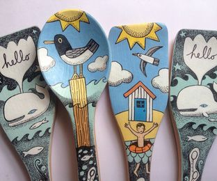 Illustrated Spoons and Spatulas