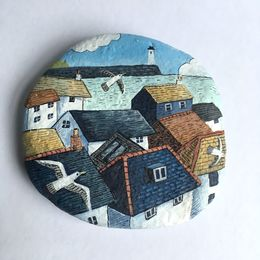 Cornish Rooftops Illustrated Stone