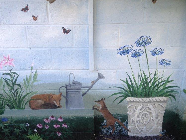 Section of Exterior Garden Mural.