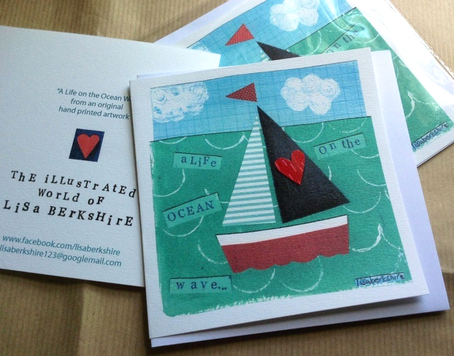 Little Boat Greetings Card