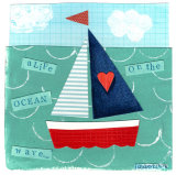 The Little Boat Original. To fit 7x8 inch frame.
