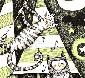 Detail from The Owl and the Pussycat
