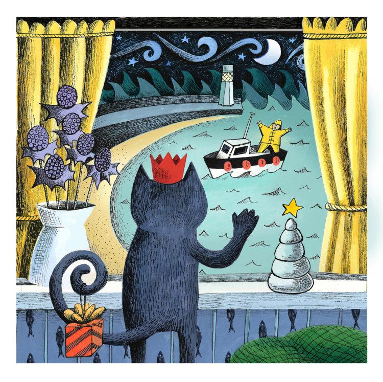 Christmas Card - 'The Christmas Star' 13x13cm on 300gms card.