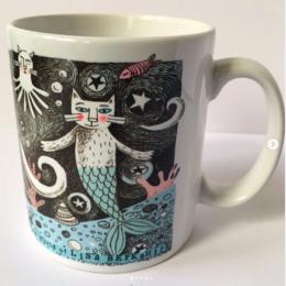 Purrmaids Illustrated Mug.