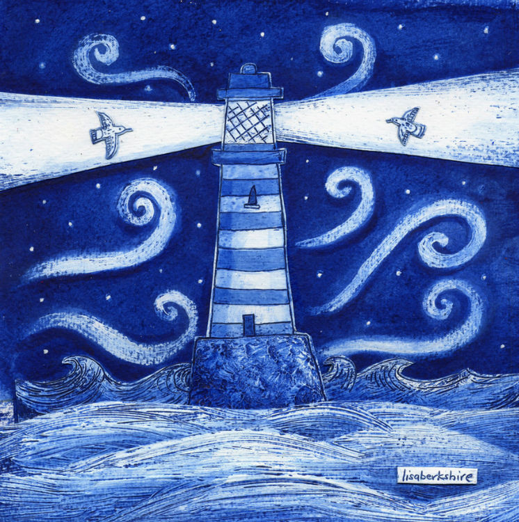 The Blue-Lighthouse.