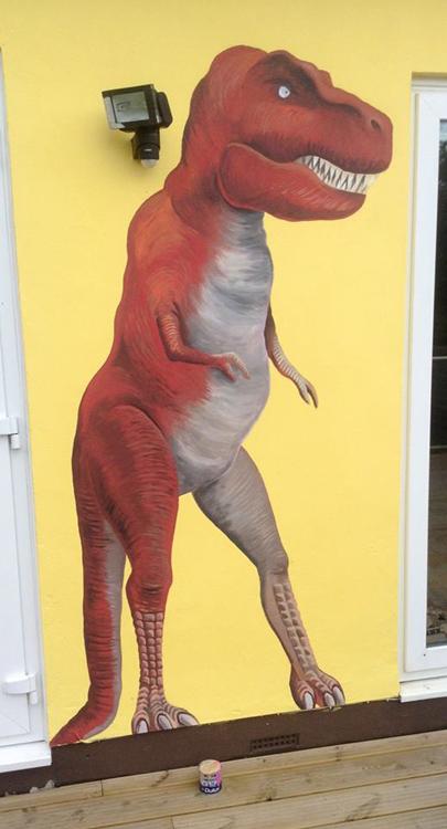 Tyrannosaurus Rex Mural