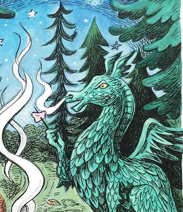 Dragon close-up
