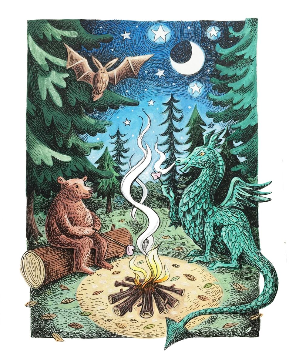 Woodland Friends love Marshmallows