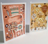 Birthday Cards from Animals and Stars range - Lion and Giraffe