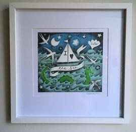 Digital,Mounted Print - I Love the Sea