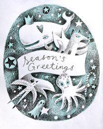 Christmas Creatures Season's Greetings