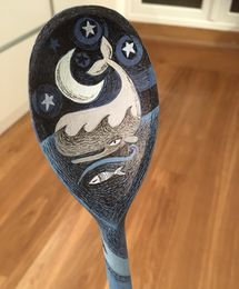 Hand -painted spoon