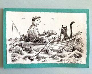 Fisherman and Cat