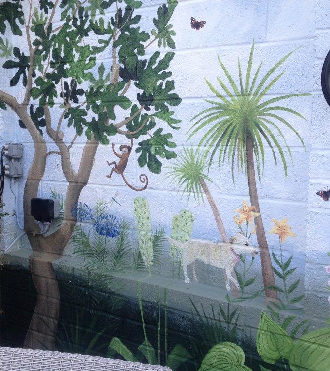 Garden Mural Painting.