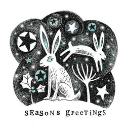 From my Winter Friends range of Christmas Cards - Winter Hare