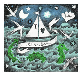 I love the Sea Illustration