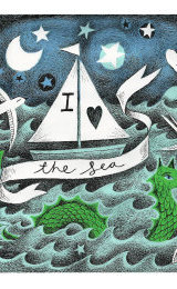 I love the Sea Illustration