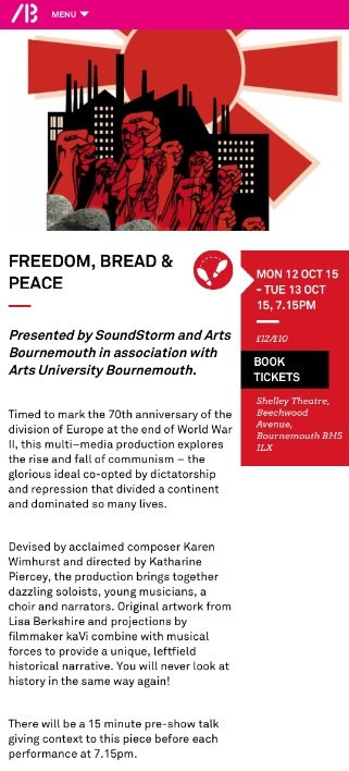 Freedom Bread and Peace web page.